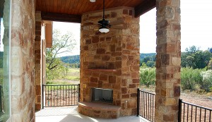 Outdoor Fireplace in Austin, Tx