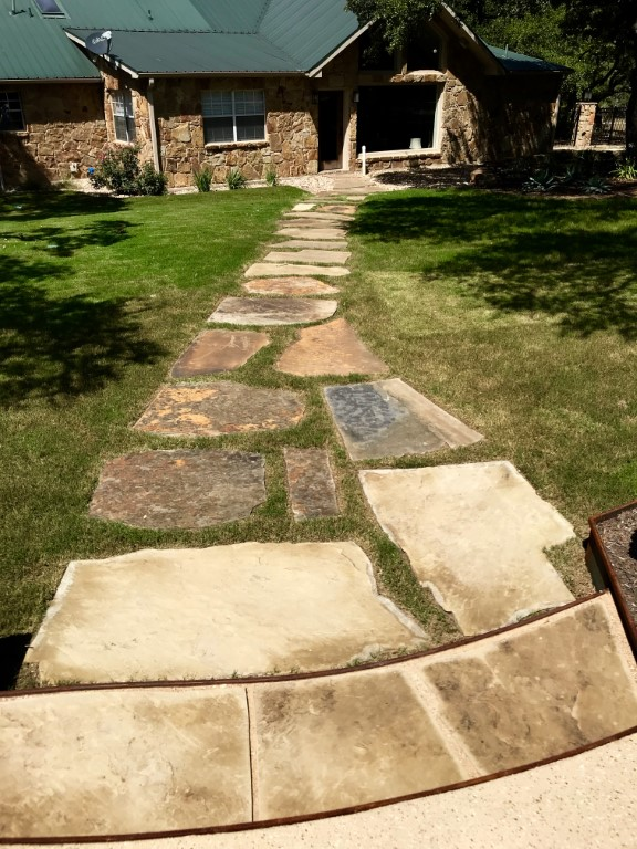 Stone Pathway in Grass