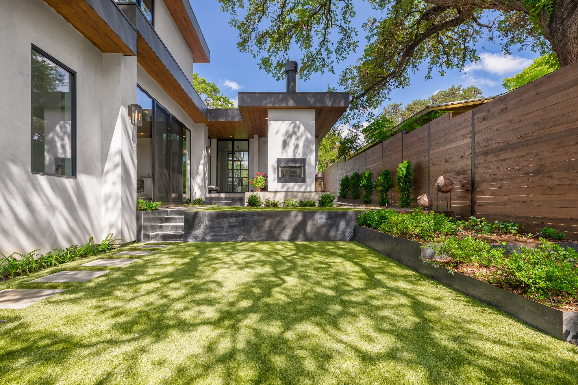 Best of Texas Landscapes backyard renovation in Travis Heights