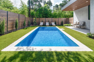 Best of Texas Landscapes poolside backyard renovation