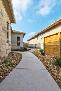 Low-maintenance, gravel use for landscape design