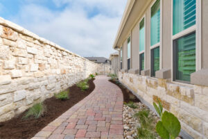 austin area landscape design paver path