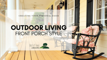 front porch with rocking chairs and text overlay