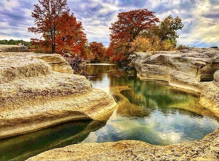 Fall colors at McKinney Falls State Park